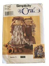 Simplicity Crafts Sewing Pattern 7142 Uncut