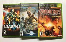 Xbox Video Game Lot Crimson Skies High Road War Path Medal Of Honor Rising Sun