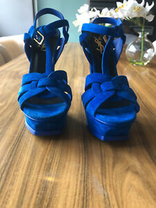 YSL Tribute Heels Shoes Suede size 37