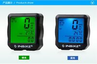 INBIKE Waterproof Backlight Bike Computer Bicycle Computer Digital Speedometer