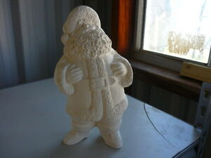 Ceramic American Santa Ready to Paint