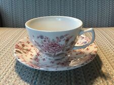 ROSE CHINTZ -- JOHNSON BROS -- CUP & SAUCER - MADE IN ENGLAND - 5 AVAILABLE -