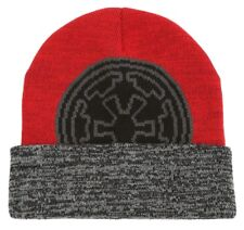 Disney Star Wars Galactic Empire Watchman Beanie Knit Ski Hat Skull Cap 2a9a83a5c221