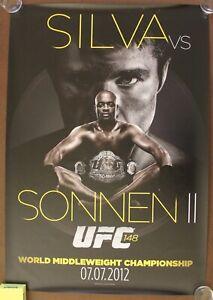 Official UFC 148 LE Anderson Silva vs Sonnen 2 Poster 27x39 (Near Mint)