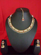 ethnic gold plated traditional set Indian Fashion Jewelry Necklace set bollywood