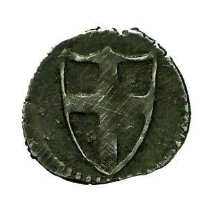 Commonwealth hammered silver Halfpenny  S3223