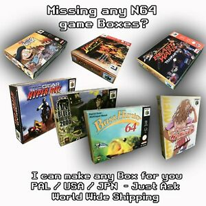I Will Make Any Nintendo 64 Game Box For You For N64 I Can Make others Just Ask