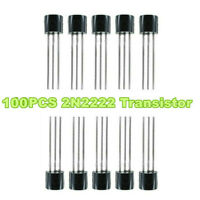 100x Transistor TO-92 2N2222 0.8A/40V Direct Plug Triode Multi-functional Kits