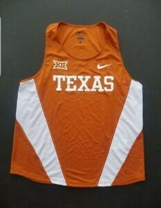 Nike Texas Longhorns Team Issued Track & Field Singlet Tank Orange Men's Size L