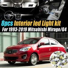 8Pc Car Interior LED White Light Bulb Kit for 1993-2019 Mitsubishi Mirage/G4