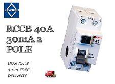 RCCB 40A 30mA 2P 2 módulo RCCB (Blanco) fantástica un precio fuera