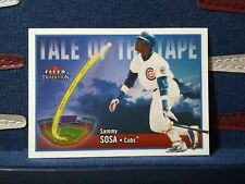 2003 Fleer Tradition Sammy Sosa #U281 Tale of the Tape Chicago Cubs