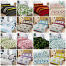Modern Rose Floral Stripes Printed Duvet Quilt Cover Bedding Set All Size S.King