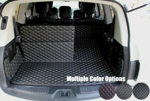 Leather Car Rear Trunk Floor Mat Boot Liner For Nissan Patrol Y62 2010-2021