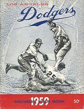 1959 LA Dodgers Team Yearbook Magazine w/ Sandy Koufax Vin Scully Don Drysdale