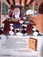 Benson & Hedges GOLD BOND Cigarettes Advert (Alchemist) - 1972 Tobacco Print AD