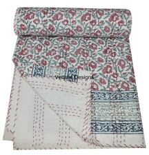Handmade Cotton Quilt Paisley Kantha Multi Bedspread Gudari King Blanket 90x108 We Have Won Praise From Customers Home & Garden Quilts, Bedspreads & Coverlets