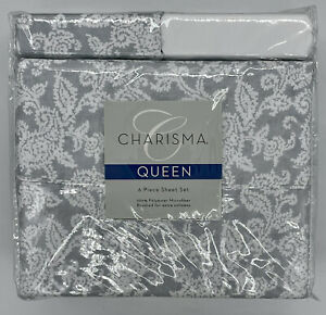 Charism 6-Piece QUEEN Sheets Set (Polyester / Microfiber, Paisley) - FREE SHIP