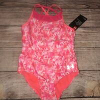 Under Armour Size 7 Girls One Piece Swimsuit NEW Coral Pink