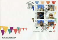Portugal Religion Stamps 2020 FDC Festivals & Pilgrimages Places of Faith 6v M/S