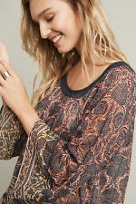 Anthropologie  Dahlia Bell-Sleeve Blouse top  NWT new size small