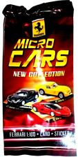 1 BUSTINA  FERRARI MICRO CARS 1:100  DIE CAST + CARD +STICKER