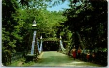 "Youngstown, Ohio Postcard ""Suspension Bridge, Millcreek Park"" Curteich c1950s"