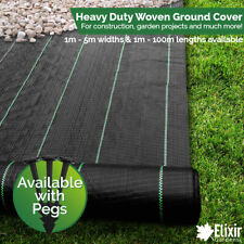 More details for woven heavy duty ground cover | weed membrane 1m, 2m, 3m, 4m, 5m widths  pegs