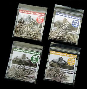 NEW BRITISH-MADE GRAMOPHONE NEEDLES, VARIOUS TONES, PACKS OF 100