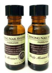 2 pk  Perfect Formula Strong Nail System Daily Moisture Moisturizes 0.5 oz ea