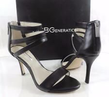 8a1a8a91208fc1 Women s BCBG BCBGeneration Darby Ankle Strap HEELS Sandals Leather Black 8.5