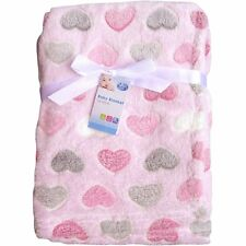 Baby Newborn Soft Fleece Blanket Pram Crib Moses Basket Girl Boy Unisex 0 Month Pink Cupcakes Multi