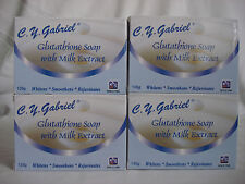 C.Y. GABRIEL GLUTATHIONE SOAP WITH MILK EXTRACT SKIN WHITENING-4 BARS OF 135G
