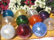 15 verschiedene Farben 10cm Garten Glaskugel Frostsicher Lightball Glas