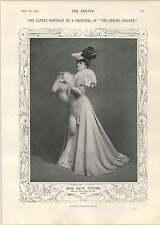 1905 Miss Kate Cutler pose cazadores espantoso Herramientas de Piel de Zorro