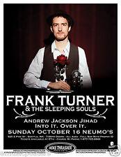 Frank Turner & The Sleeping Souls 2011 Seattle Concert Tour Poster - Folk Punk