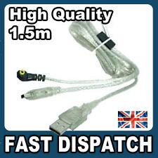 USB Charge & Data Sync Cable for PSP - CLEAR - NEW