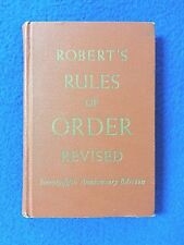 Robert's Rules of Order, Vintage 1951 Pocket Manual 75th Anniversary Edition