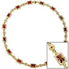 "Elizabethan Cubic Zirconia in Garnet Color Necklace 18"" Museum Store Collection"