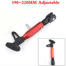 Black/Red Adjustable Length Kickstand Motorcycle Side Stand CNC Stand Universal