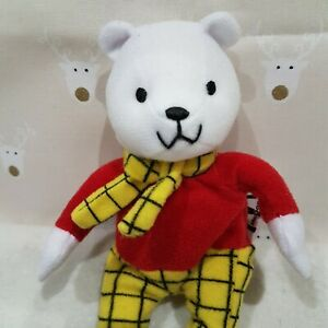 NEW Rupert the Bear Soft Toy Plush 15cm NWOT ..
