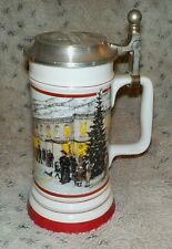 "Coors Winterfest 1990-91 Limited Edition of 9,950 ceramic beer stein, 8"" high"