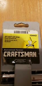 "Craftsman 9 piece Metric 6 point deep socket 3/8"" drive"
