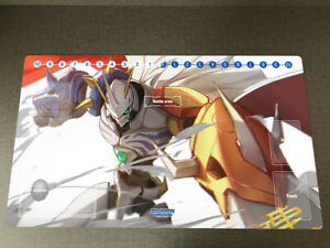 Anime DTCG Duel Playmat Digimon Omegamon Trading Card Game Mat Pad & Card Zones