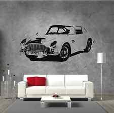 Aston Martin DB5 James Bond Retro Classic Car Vintage Vinyl Sticker Wall Art