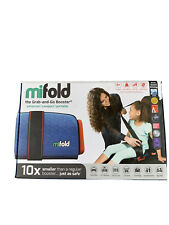 Mifold Grab-and-Go Car Booster Seat Slate Denim Blue