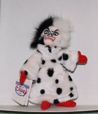 "Plush Disney Store Cruella Bean Bag Doll 9""  101 Dalmatians w tag"