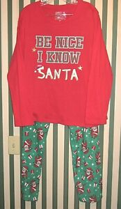 NWT Women's Jammies for Your Families 'Be Nice' PJ Set Size XXL