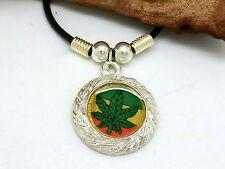 Feuille de chanvre CANNABIS Collier pendentif Jamaïque rasta reggae