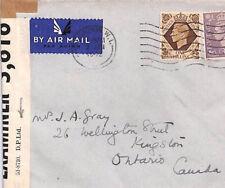 BP59 1942 GB WW2 Cover Canada PRIVATE PRINTER CENSOR LABEL *D.P.Ltd*